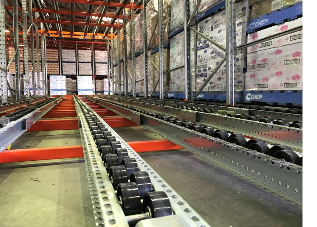 FIFO pallet flow rack brisbane